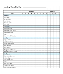 Weekly Chore List Template House Chores Schedule Template Chore Chart Household