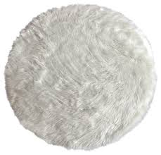 machine washable faux sheepskin white round area rug contemporary kids rugs by kroma carpets