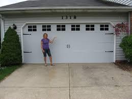 Faux Garage Door Windows Faux Carriage Garage Doors And Door Makeover Faux Carriage Garage