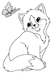 Kitty Cat Coloring Page Free Coloring Pages Cats Kitten Cat Coloring