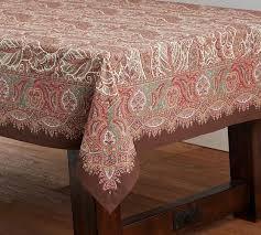 norwood paisley tablecloth pottery barn