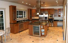 Kitchen Floor Tiles With Light Cabinets Of Best In Simple Design