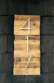 decorative wooden house number plaque with by how to make a wood address solid oak house number plaque wooden
