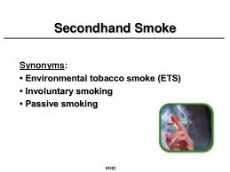 secondhand smoke the silent killer secondhand smoke synonyms • environmental tobacco smoke ets • involuntary smoking • passive smoking who 18