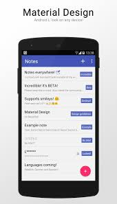 Material Design Notes App Beta Notes Material Design Android