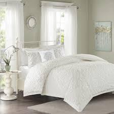 tufted comforter set madison park sarah white 4 piece free 11