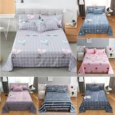 classic plaid pattern bed sheets soft