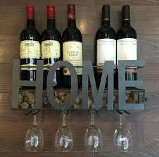 wine rack wall mount hanging glass stem