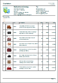 Product List Samples Price quotation samples 2