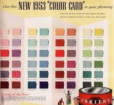 Dulux Mid-Century Modern Exterior Paint  O'Brien's Paint 1953 Color Card