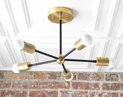 mid century light fixtures. Chandelier Lighting - Gold Ceiling Lamp Geometric Fixtures Sputnik Light Mid Century R
