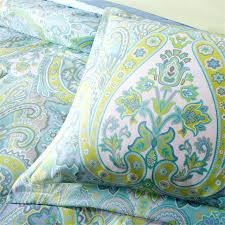 paisley queen sheets 9 pc aqua blue green