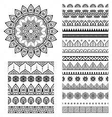 Mandala Ornament and Borders Decorative Symbols Decorative