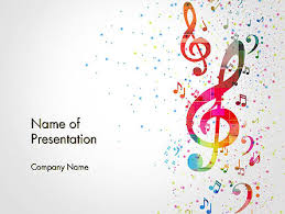 Music Powerpoint Template Falling Colorful Music Notes Powerpoint Template