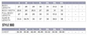 Harriton Size Chart Size Charts Concrete Pond