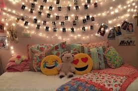 bedroom with beautiful le lights