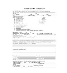 Police Incident Report Form Template Blank Vehicle Accident
