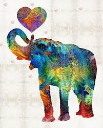 colorful elephant drawings. Wonderful Colorful Elephant Painting  Colorful Art Elovephant By Sharon Cummings  By Intended Drawings E