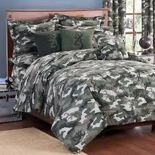 buckmark camo green comforter and sham set