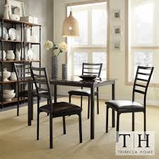 Darcy II Faux Marble Top Black Metal 5-piece Casual Dining Set by iNSPIRE Q  Bold by iNSPIRE Q