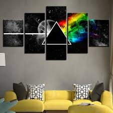 5 panel pink floyd rock music picture wall art print home decor for living room  on pink floyd wall decor with 5 panel pink floyd rock music picture wall art print home decor for