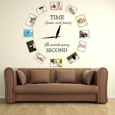 family wall clock time spent with family is worth every second family wall decal vinyl family