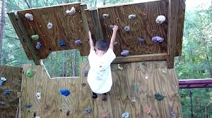 backyard climbing wall 5 year old climber on the new backyard climbing wall overhang backyard rock backyard climbing wall