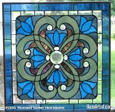 krista victorian stained glass window panel fl ebsq artist