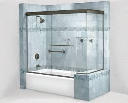 cottage frameless sliding shower door