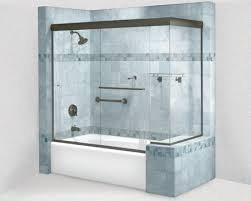 cottage frameless sliding shower door