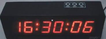 led stopwatch clock 6 digit sports