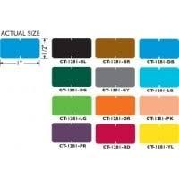 "<b>Tab</b> Compatible Vinyl Kimdura <b>Solid Color</b> Blank Labels, 1/2""h x 1""w ..."