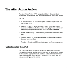 After Action Review Template Template Aar Template After Action Review Sample Documents Word 15