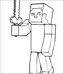 Small Picture Minecraft Steve Coloring Pages GetColoringPagescom