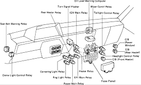 where is the fuse box for an 1986 toyota mini vans heater located attached image