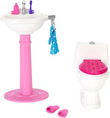 18 inch doll toilet barbie bathroom set
