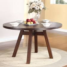 solid wood round kitchen table copy modus portland solid wood round dining table medium walnut