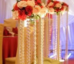 50mtranspa crystal octagonal beaded chain curtain acrylic bead garland chain craft supplies for wedding chandelier table decoration winter wonderland