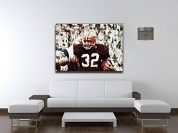 jim brown cleveland browns canvas print canvas art rocks 4 on cleveland browns wall art with jim brown cleveland browns canvas canvas print poster canvas art