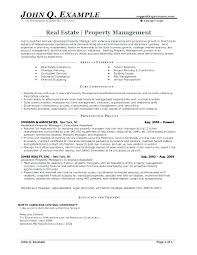 Property Manager Sample Resume New Resume Objective Examples For Property Management With Objective On