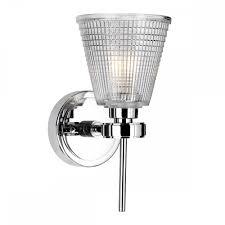Bathroom Heater Lights Uk Gunnislake Single Chrome Bathroom Wall Light With Prismatic Glass Shade