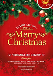 Free Christmas Flyer Templates Download Merry Christmas Free Psd Flyer Template Download For Photoshop