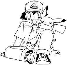 Coloriage Pokemon Colorier Dessin Imprimer Coloriage Coloriage Pikachu Et Sacha A Imprimer Voir Le Dessin L