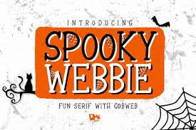 2 million + fonts & design assets download now best scary halloween fonts: Spooky Webbie Font By Dmletter31 Creative Fabrica Spooky Font Halloween Fonts Font Bundles