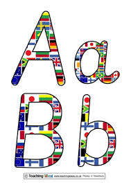 Letter World World Flags Display Letters Teaching Ideas