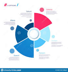 6 Piece Pie Chart Template Pie Chart Concept With 6 Parts Vector Template For Web