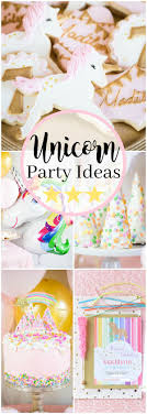 Shimmery pink and gold Unicorn Birthday Party  unicorn party ideas, food  and decorations.