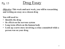 sponge set up cornell notes on pg topic drugs and their  13 drug essay
