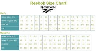 Reebok Kid Shoes Size Chart Myshoespot Web Myshoeweb On Pinterest