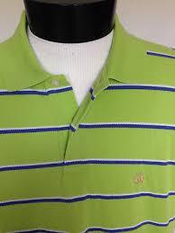 brooks brothers green striped golden fleece logo rugby polo shirt men s sz m euc